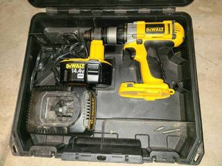 DeWalt Cordless Power Drill with Case Charger and a 14 4 V Battery