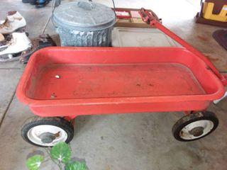 Orange Metal Wagon