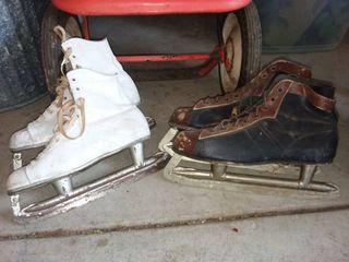 Vintage Ice Skates 2 Pair
