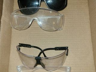 Safety Glasses 3 pair and 3 pair of sunglasses