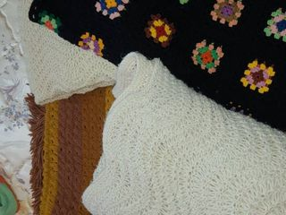 Throws and Blankets  Crouchet Blankets 2pcs and 2 throws