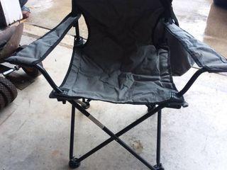 Gray Canvas Folding Outdoor Chair