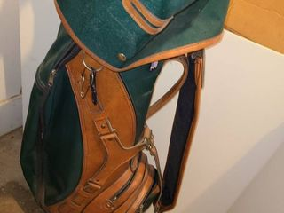 Golf Clubs with Bag and Cover  Variety of Clubs and bag is MADE IN USA