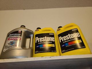 Car Products  Anti Freeze and gallon of 2 cycle oil