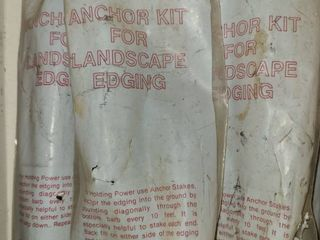 Anchor Kit for landscaping Edging  5 pkgs