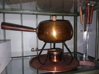 Vintage Copper Fondue Set