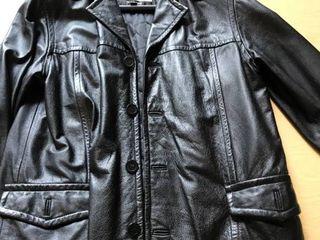men s M leather coat