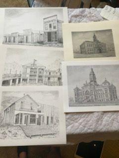 Dick Castle prints   local artist