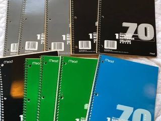 10 notebooks College ruled