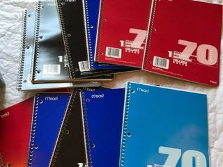 11 college ruled spiral notebooks