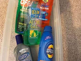 sunscreens and bug sprays
