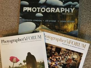 photography book and two magazines
