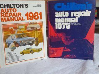 2 Chilton s auto repair manuals  hardback