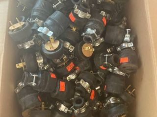 approx 125 electric plugs   Male and Female