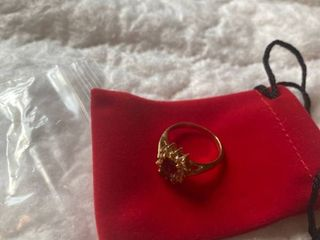 Ring with purple jewel