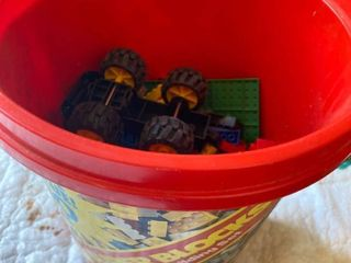 Bucket of Toy Blocks