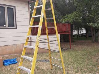 10ft Yellow Werner Fiberglass ladder