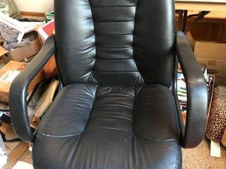 Black Office chair   swivels