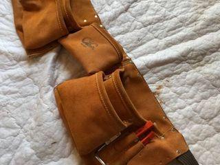leather nail apron