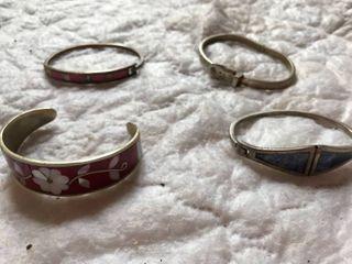 4 bangle bracelets