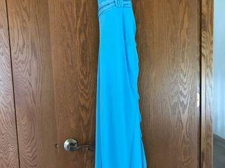 sky blue formal dress size M
