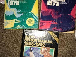 3 Chiltons auto Manuals