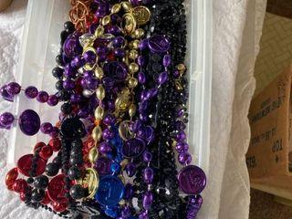 lot of Mardi gras beads