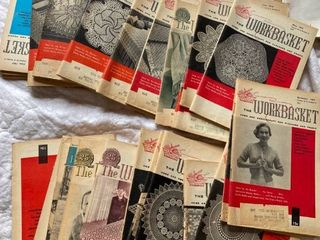 approx 25 old magazines The Workbasket 1957 1960