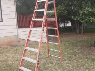 10ft Orange louisville Fiberglass ladder