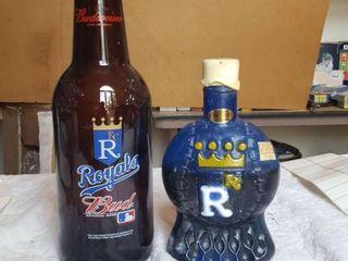 2 KC Royals bottles