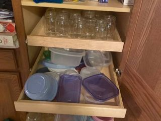 all items left in kitchen cabinets