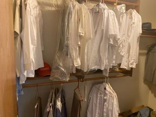 all mens clothes left in upstairs closet
