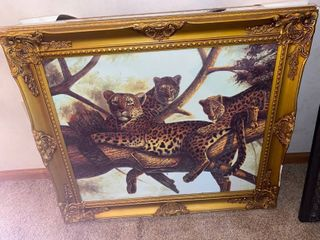 leopard framed art