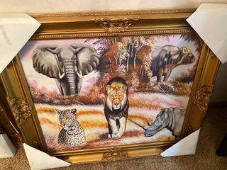 wild animal framed wall art