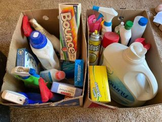 cleaning and laundry supplies
