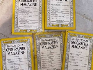 1941 National Geographics