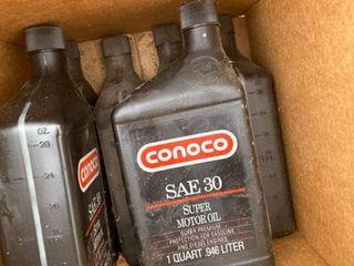 6 qts Conaco SAE 30 motor oil