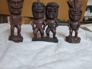 3 Tiki figurines