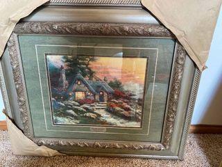 framed Thomas Kinkade print
