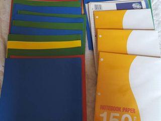 Folders  20  and loose leaf paper
