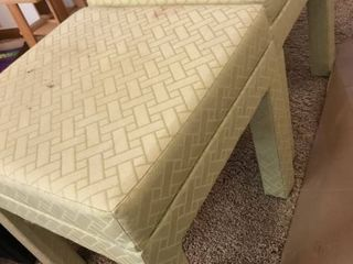 2 decorative stools   need reupholstered