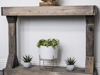Barb Small Rustic Solid Wood Console Table by Del Hutson Designs Retail:$116.00