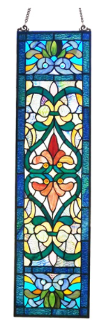 River of Goods Stained Glass Fleur De lis Window Panel