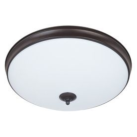 Good Earth lighting legacy 19 in W light Bronze lED Ceiling Flush Mount light