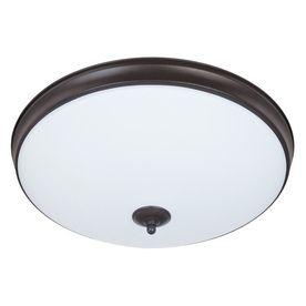Good Earth Lighting Legacy 19-in W Light Bronze LED Ceiling Flush Mount Light