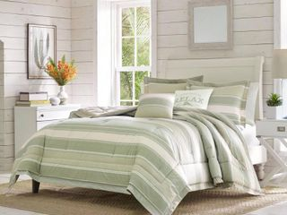 King 5pc Serenity Comforter   Sham Set Green   Tommy Bahama