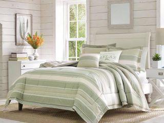 King 5pc Serenity Comforter & Sham Set Green - Tommy Bahama