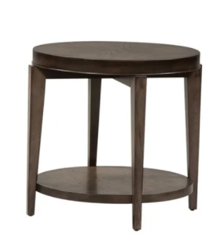 Penton Espresso Stone Round End Table