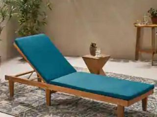 Nadine Outdoor Fabric Chaise Lounge Cushion by Christopher Knight Home