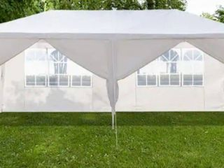 White PE/Iron Spiral Interface Wedding Party Canopy Tent - 10x20ft-4sides
